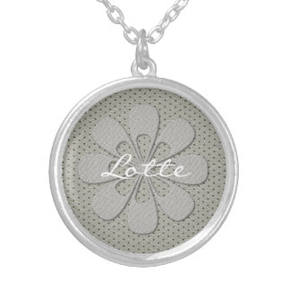 Cute Chic Silver Flower Snowflake Necklace