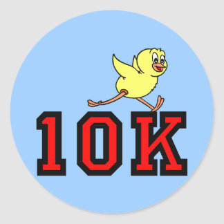 Cute chick 10K Round Sticker