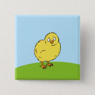 Cute Chick 2 Inch Square Button