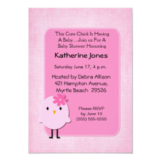 Cute Chick Baby Shower Invitation