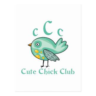 CUTE CHICK CLUB MEMBER POSTCARD