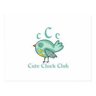 CUTE CHICK CLUB MEMBER POSTCARDS