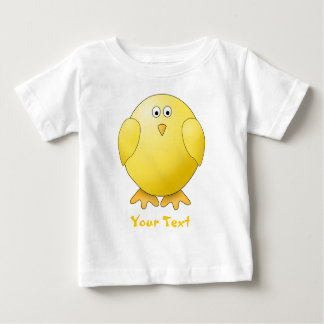 Cute Chick. Little Yellow Bird. Custom Text Baby T-Shirt