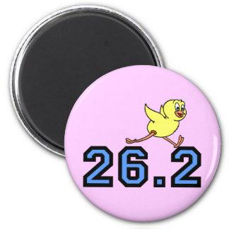 Cute chick marathon 2 inch round magnet