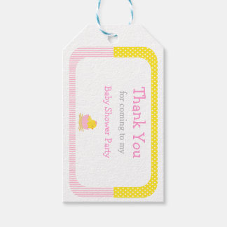 Cute Chick Pink Girl Thank You Gift Tag