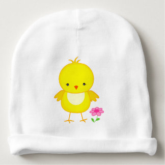 Cute chick with flower baby beanie