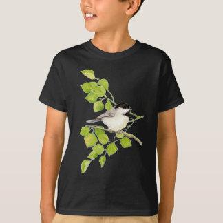 Cute Chickadee in Poplar, Bird, Tree, Nature T-Shirt