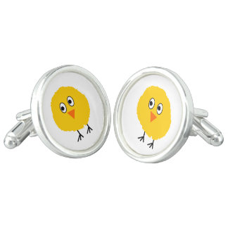 Cute chicken cartoon cufflinks