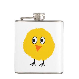 Cute chicken cartoon hip flask