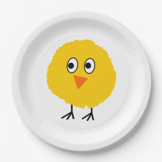 Cute chicken cartoon paper plate