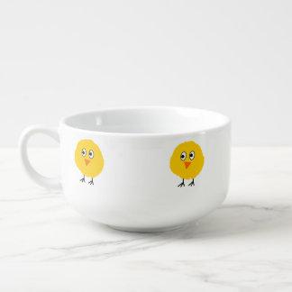 Cute chicken cartoon soup mug