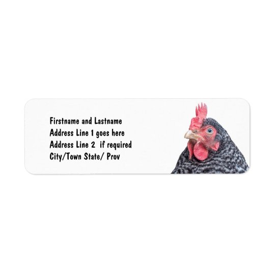 Cute Chicken Photo Customized Address