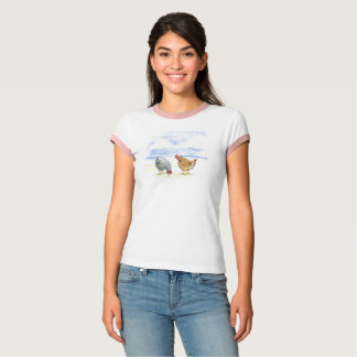 CUTE CHICKEN T-SHIRT, FARM ANIMALS. HENS EATING T-Shirt