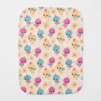 Cute Chicks burp cloth