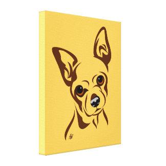 Cute Chihuahua Art Canvas Print