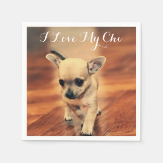 Cute Chihuahua Paper Napkins Add Photo