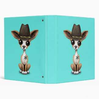 Cute Chihuahua Puppy Sheriff 3 Ring Binders
