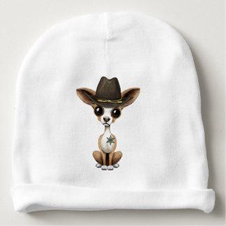 Cute Chihuahua Puppy Sheriff Baby Beanie