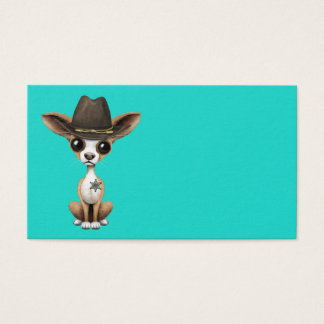 Cute Chihuahua Puppy Sheriff Business Card