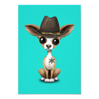 Cute Chihuahua Puppy Sheriff Card