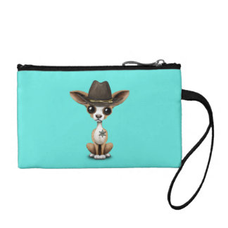 Cute Chihuahua Puppy Sheriff Change Purses