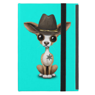 Cute Chihuahua Puppy Sheriff Cover For iPad Mini