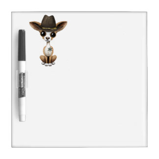 Cute Chihuahua Puppy Sheriff Dry Erase Boards