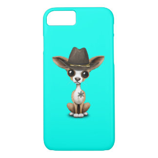 Cute Chihuahua Puppy Sheriff iPhone 8/7 Case