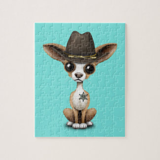 Cute Chihuahua Puppy Sheriff Jigsaw Puzzle