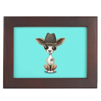Cute Chihuahua Puppy Sheriff Memory Boxes