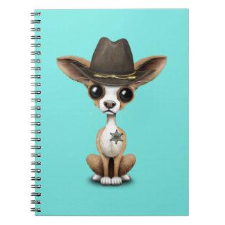 Cute Chihuahua Puppy Sheriff Notebooks