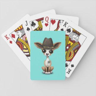 Cute Chihuahua Puppy Sheriff Poker Deck