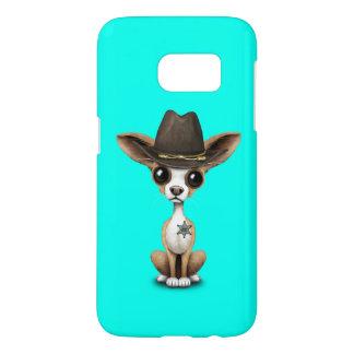 Cute Chihuahua Puppy Sheriff Samsung Galaxy S7 Case