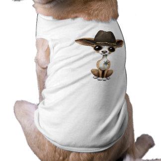 Cute Chihuahua Puppy Sheriff Shirt