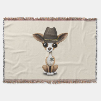 Cute Chihuahua Puppy Sheriff Throw