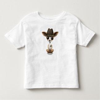 Cute Chihuahua Puppy Sheriff Toddler T-shirt