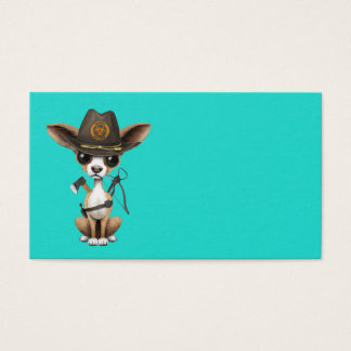 Cute Chihuahua Puppy Zombie Hunter Business Card