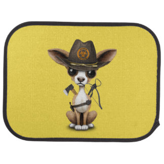 Cute Chihuahua Puppy Zombie Hunter Car Mat