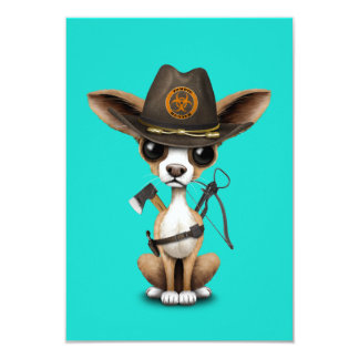 Cute Chihuahua Puppy Zombie Hunter Card