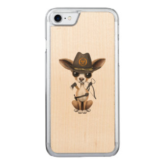 Cute Chihuahua Puppy Zombie Hunter Carved iPhone 8/7 Case