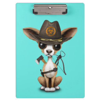 Cute Chihuahua Puppy Zombie Hunter Clipboards
