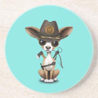 Cute Chihuahua Puppy Zombie Hunter Coaster