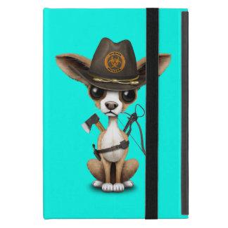 Cute Chihuahua Puppy Zombie Hunter Cover For iPad Mini