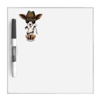 Cute Chihuahua Puppy Zombie Hunter Dry Erase Board