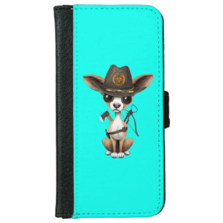 Cute Chihuahua Puppy Zombie Hunter iPhone 6 Wallet Case
