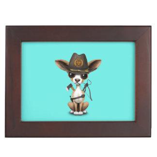 Cute Chihuahua Puppy Zombie Hunter Keepsake Box