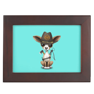 Cute Chihuahua Puppy Zombie Hunter Memory Boxes