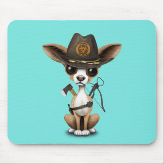 Cute Chihuahua Puppy Zombie Hunter Mouse Pad