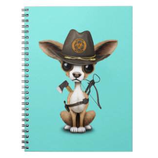 Cute Chihuahua Puppy Zombie Hunter Notebook