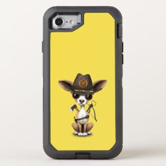 Cute Chihuahua Puppy Zombie Hunter OtterBox Defender iPhone 8/7 Case